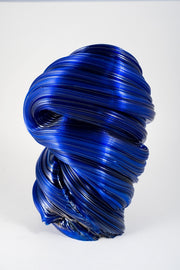 Blue sculpture, back view