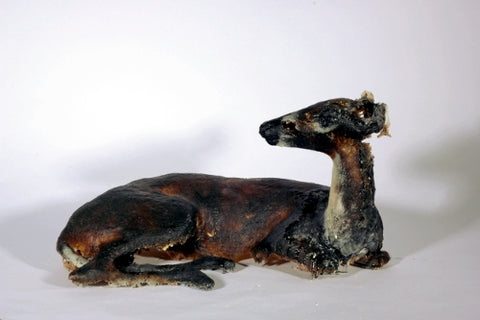 The Doe, life-size cast glass doe sculpture.  39 x 75 x 39 cm