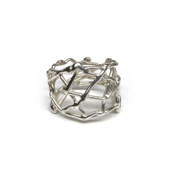 Sterling silver nest ring by Andrée Chénier