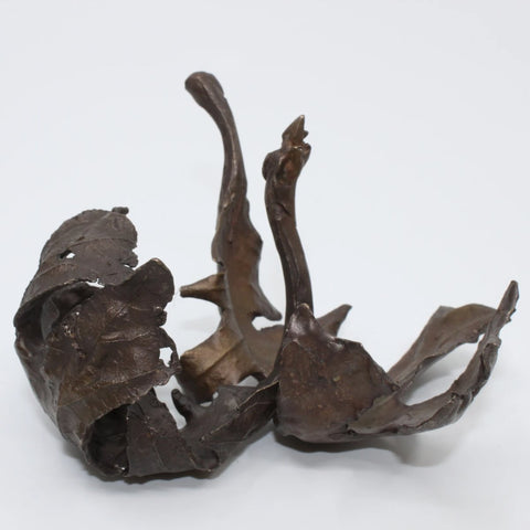 Gust, Anna Williams' bronze cast oak leaves