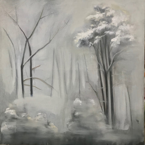 Winter Garden 16x16 Oil on canvas 2018