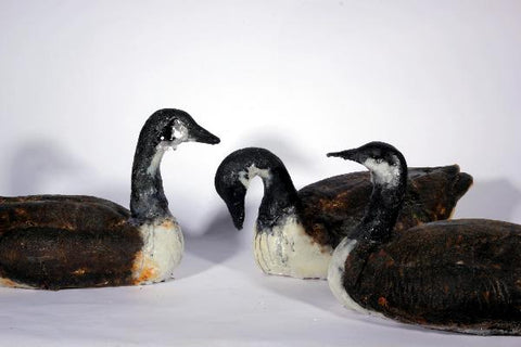 Migrate, life-size cast glass goose sculpture.  5 currently available, sold individually  39 x 56 x 31 cm
