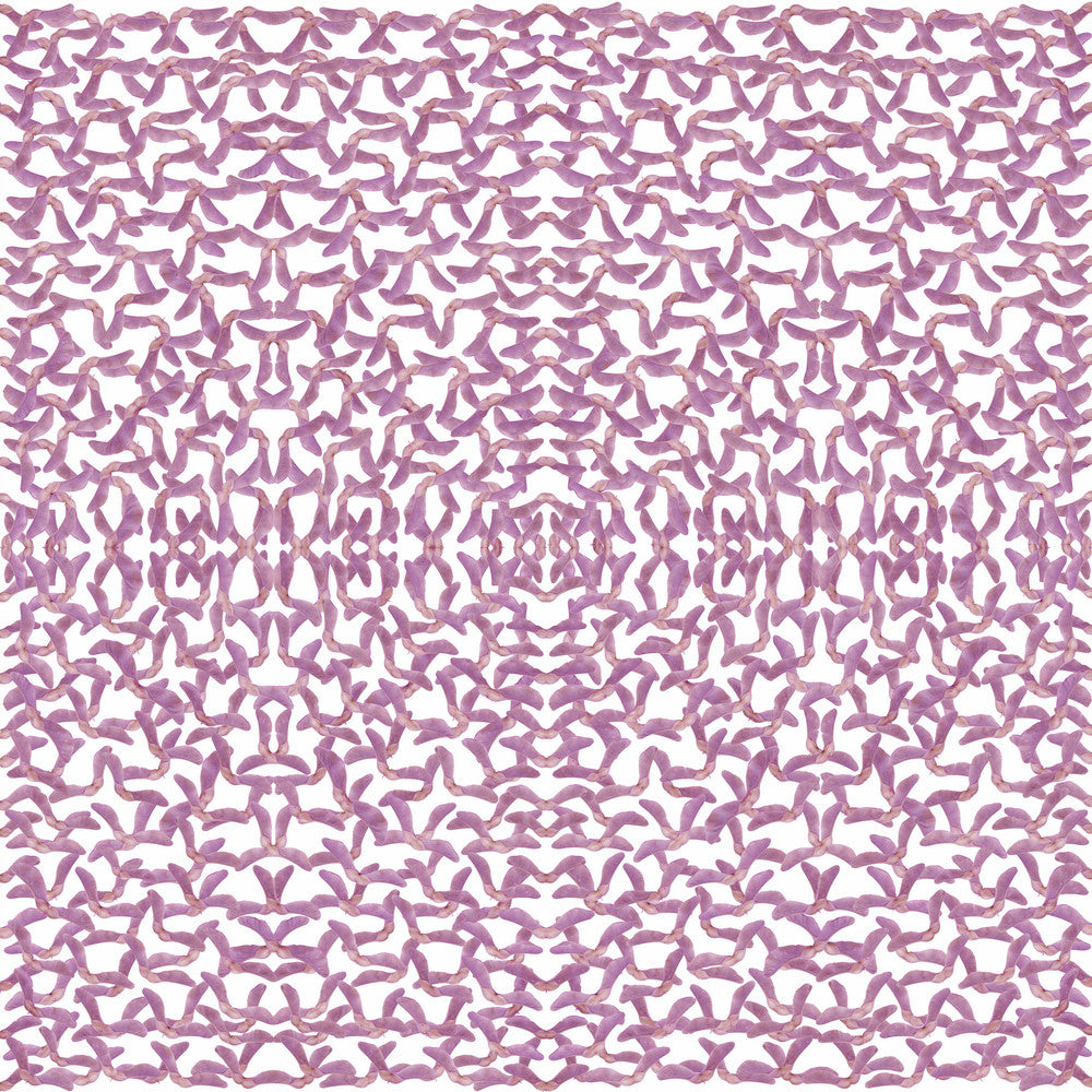 Violet Helicopter scarf digitally printed on crepe de chine by Calica.