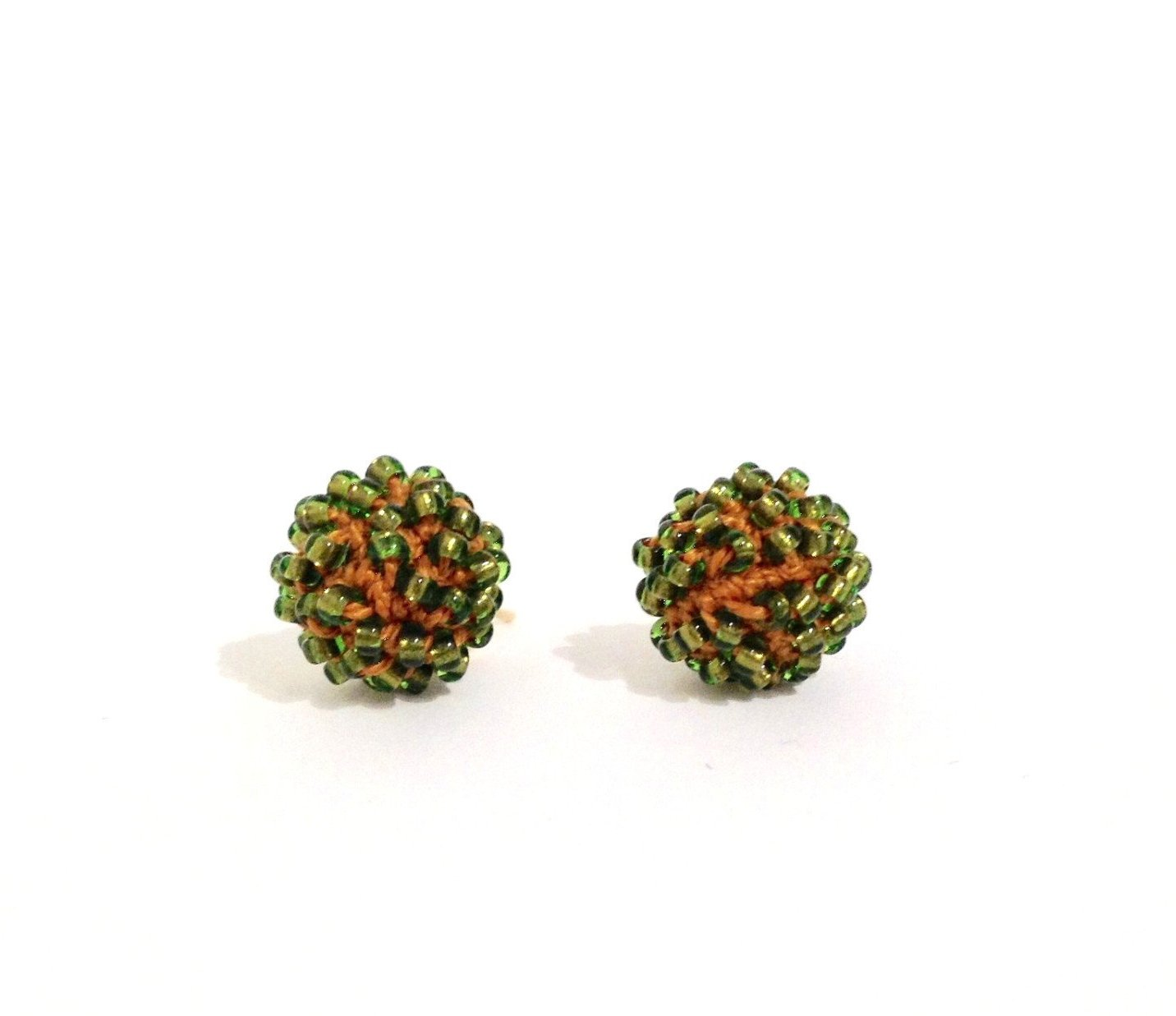 Green Copper Stud Earrings by Yael Krakowski