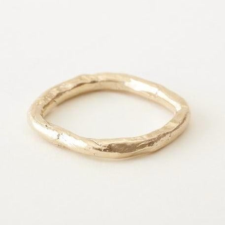 Melanie LeBlanc recycled gold ring in a soft square shape