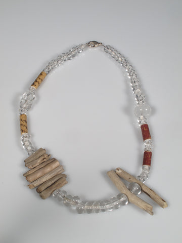 This necklace is part of the series `Together we grow in earth & fire`completed as a collaboration between the artists Tanya Lyons and Lucas Rosandic