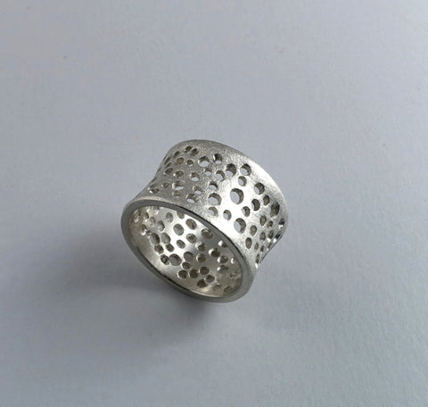 Sterling silver Coral design ring