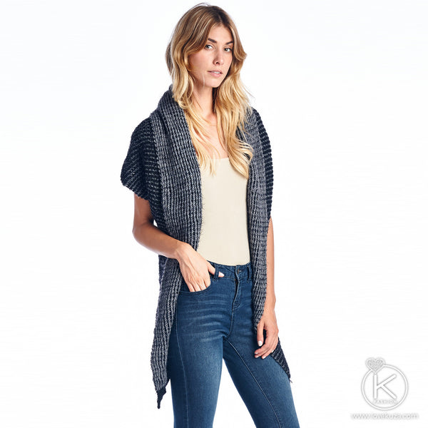 Knitted Shawl Collar Cardigan
