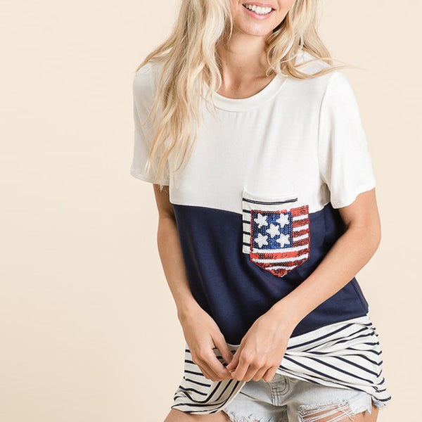 American Glory Top - Love, Kuza