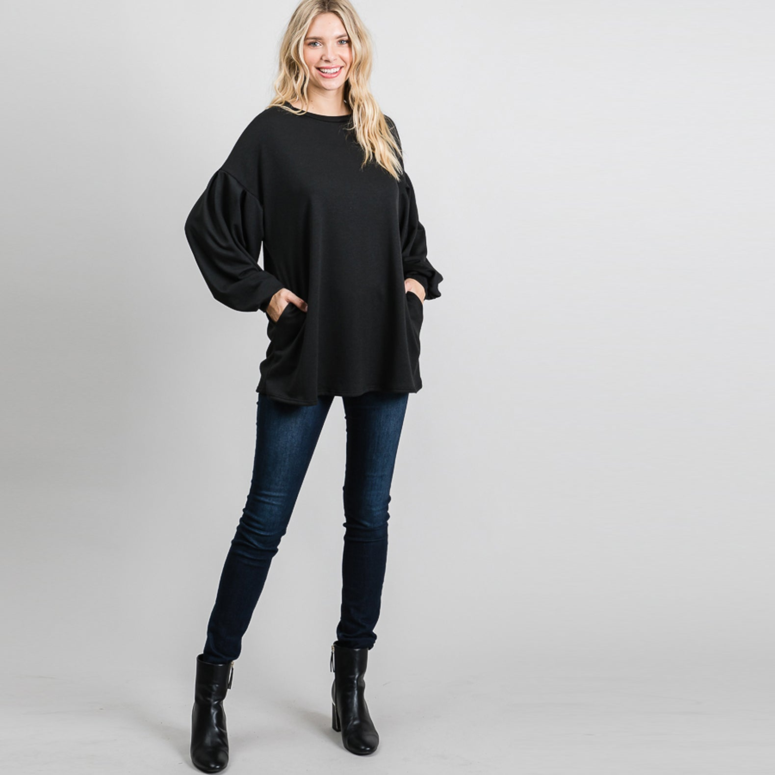 Myriad Bubble Sleeve Sweater Top
