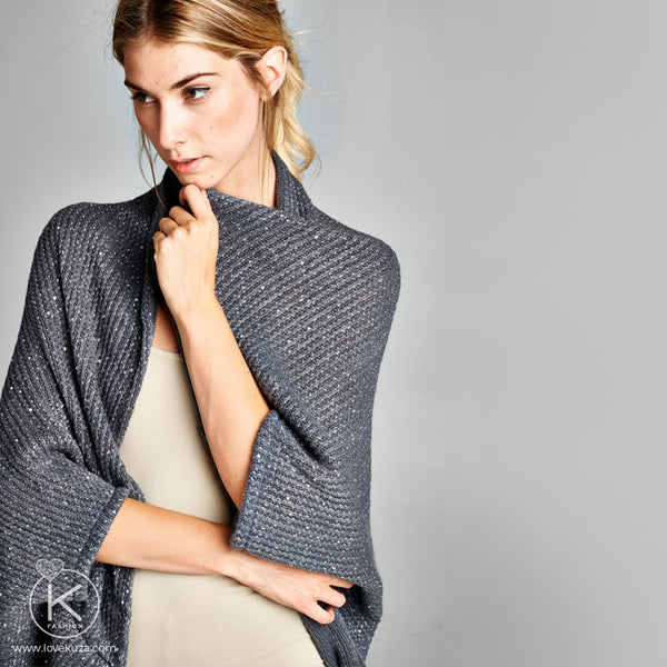 Oversized Open Sweater Cardigan with sequins *ONESIZE*