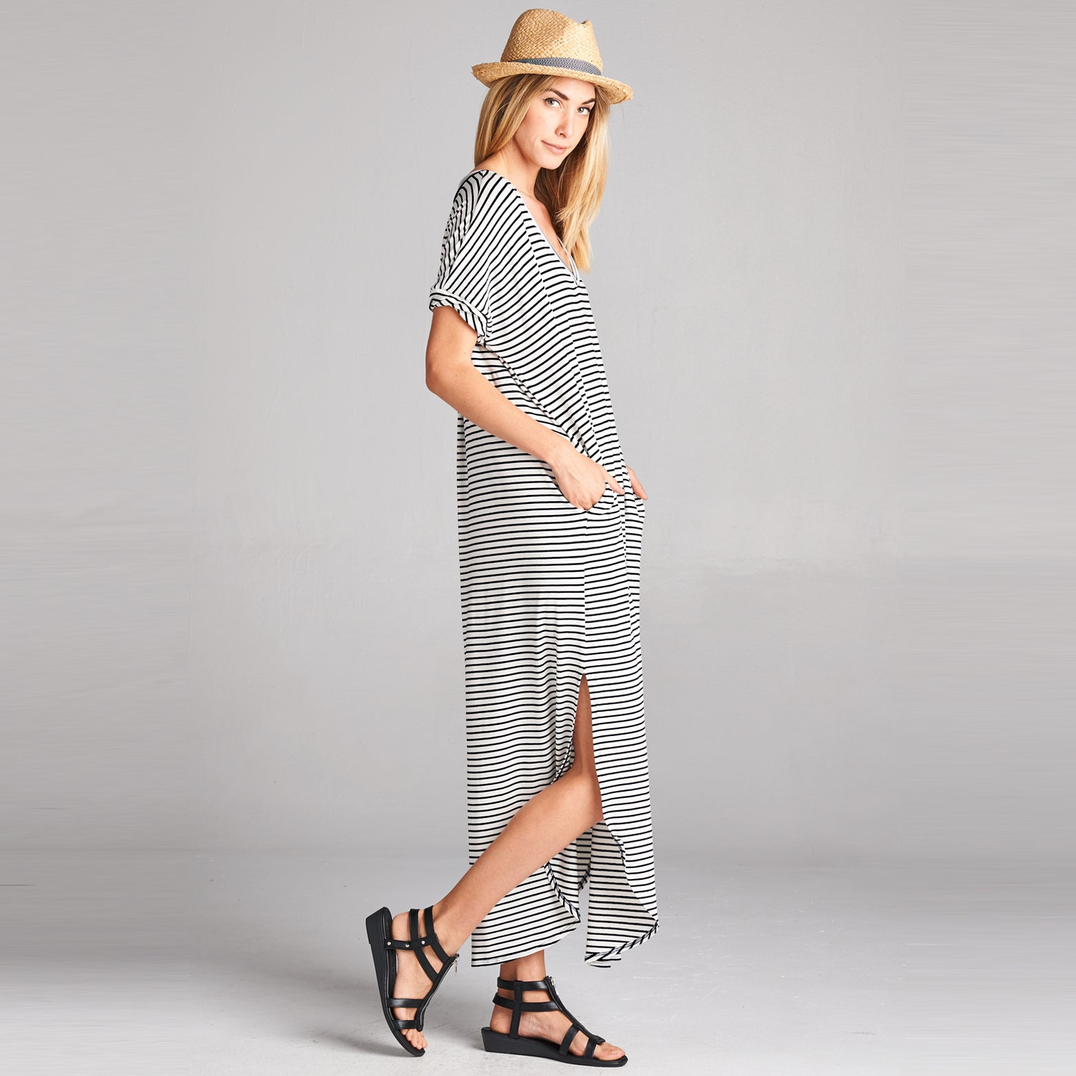 Assorted Striped Print Maxi Dress - Love, Kuza