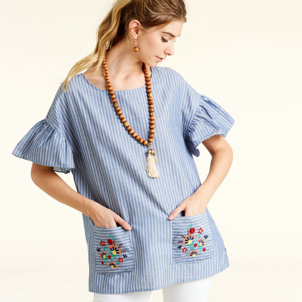 Lively Embroidery Tunic