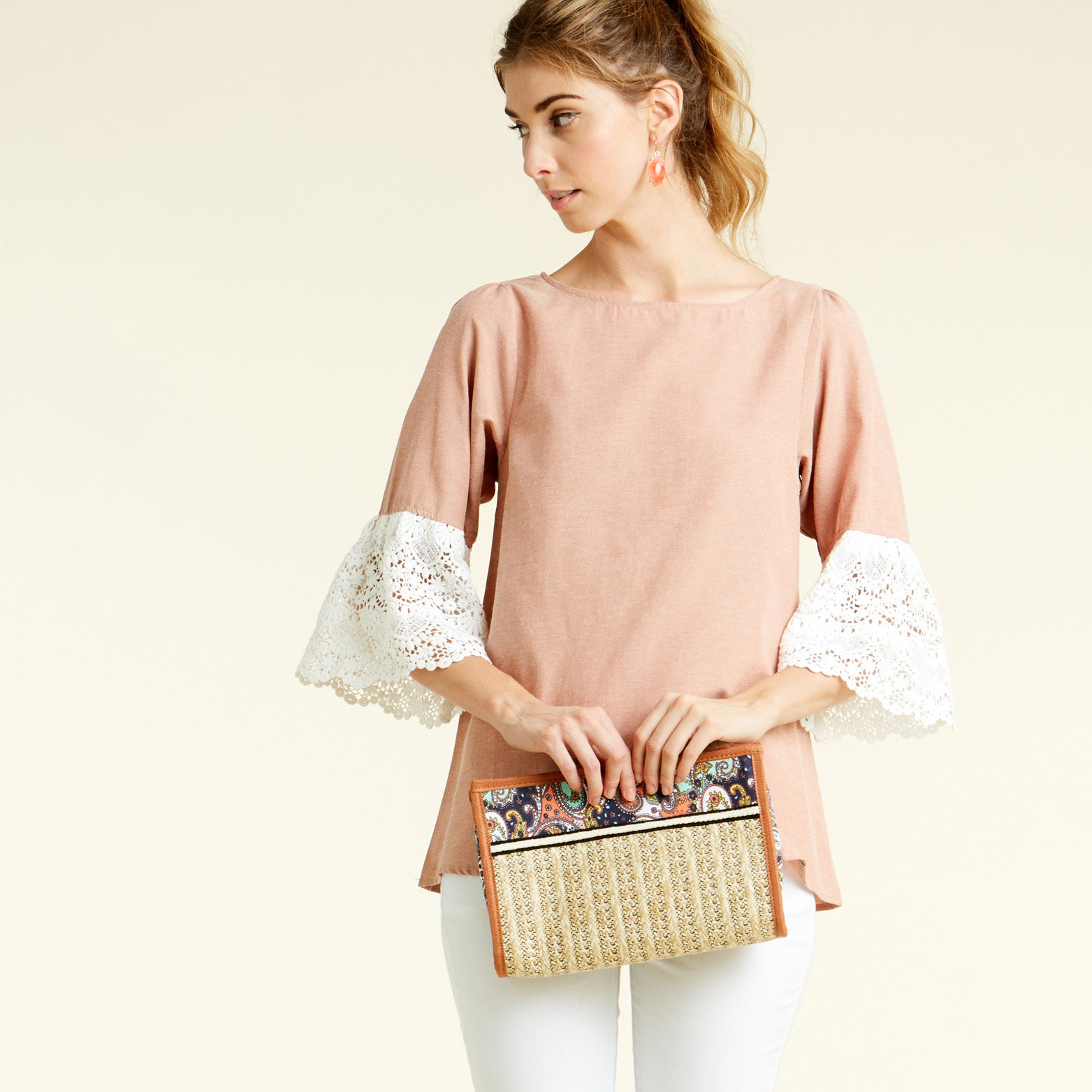 Pompous Crochet Sleeve Blouse