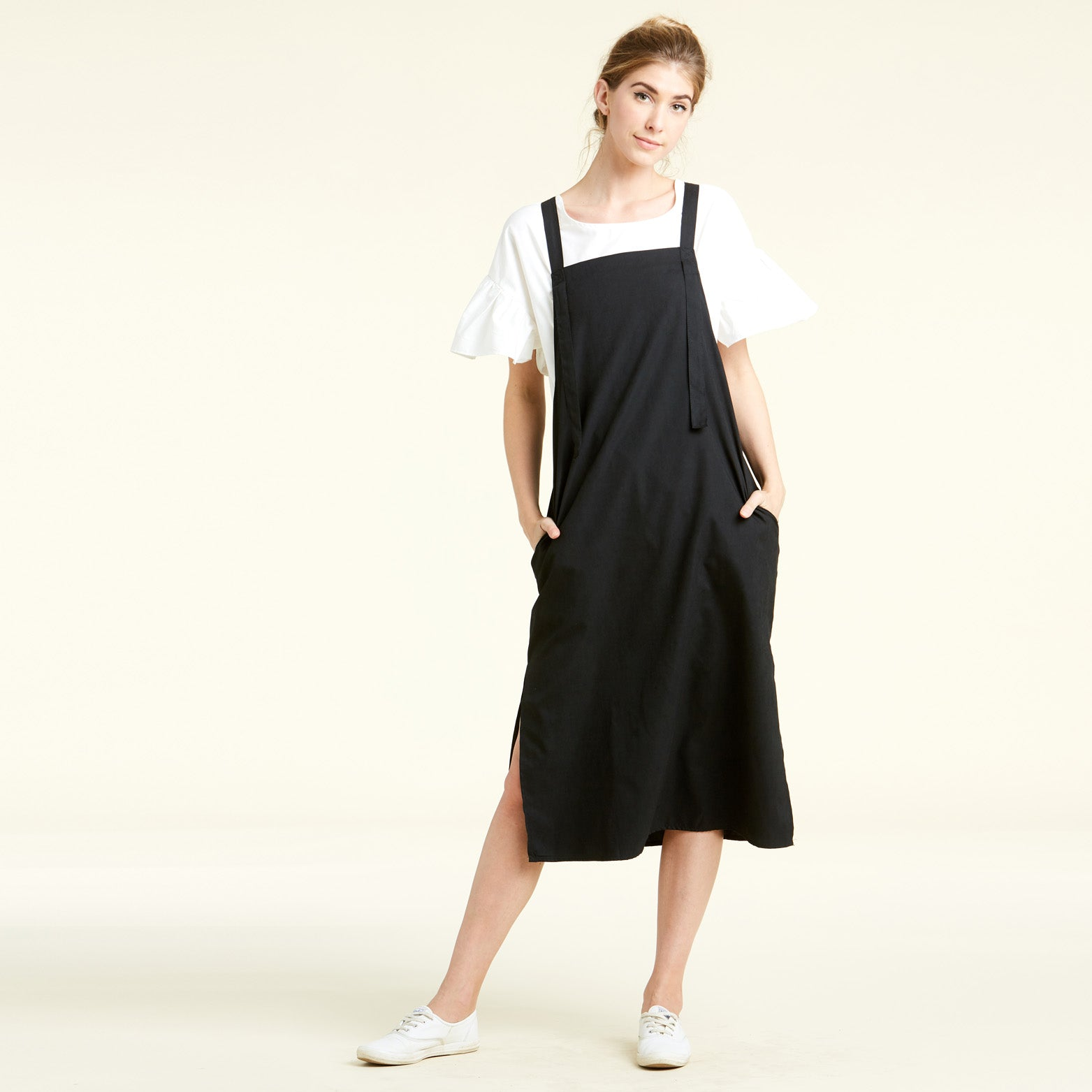 Midi Pinafore Dress - Love, Kuza