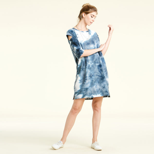 Easy Tie-Dye French Terry Dress