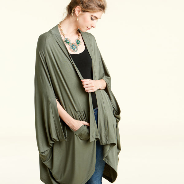 Draped in Comfort Cardigan - Love, Kuza
