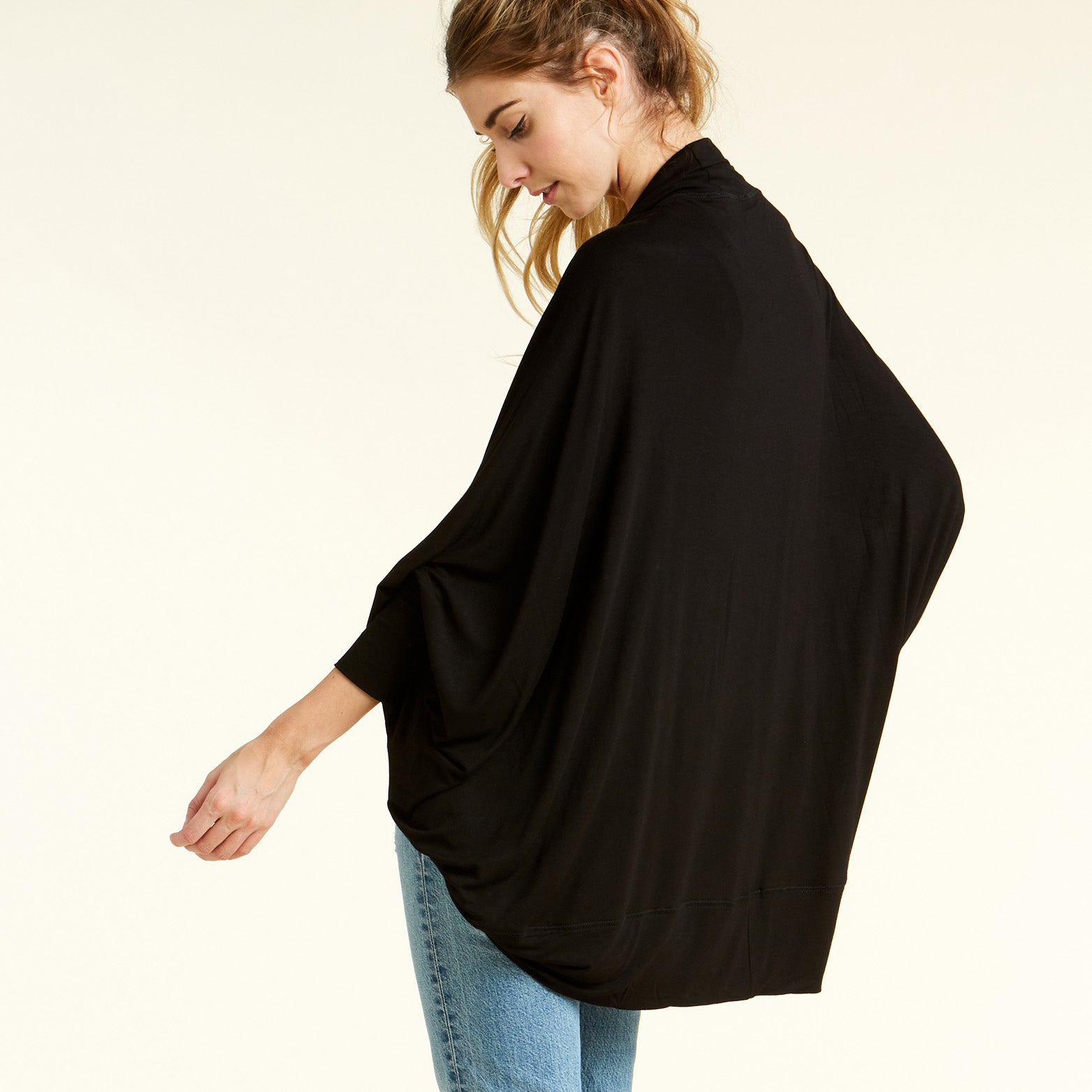 Dolman Sleeves Circle Cardigan