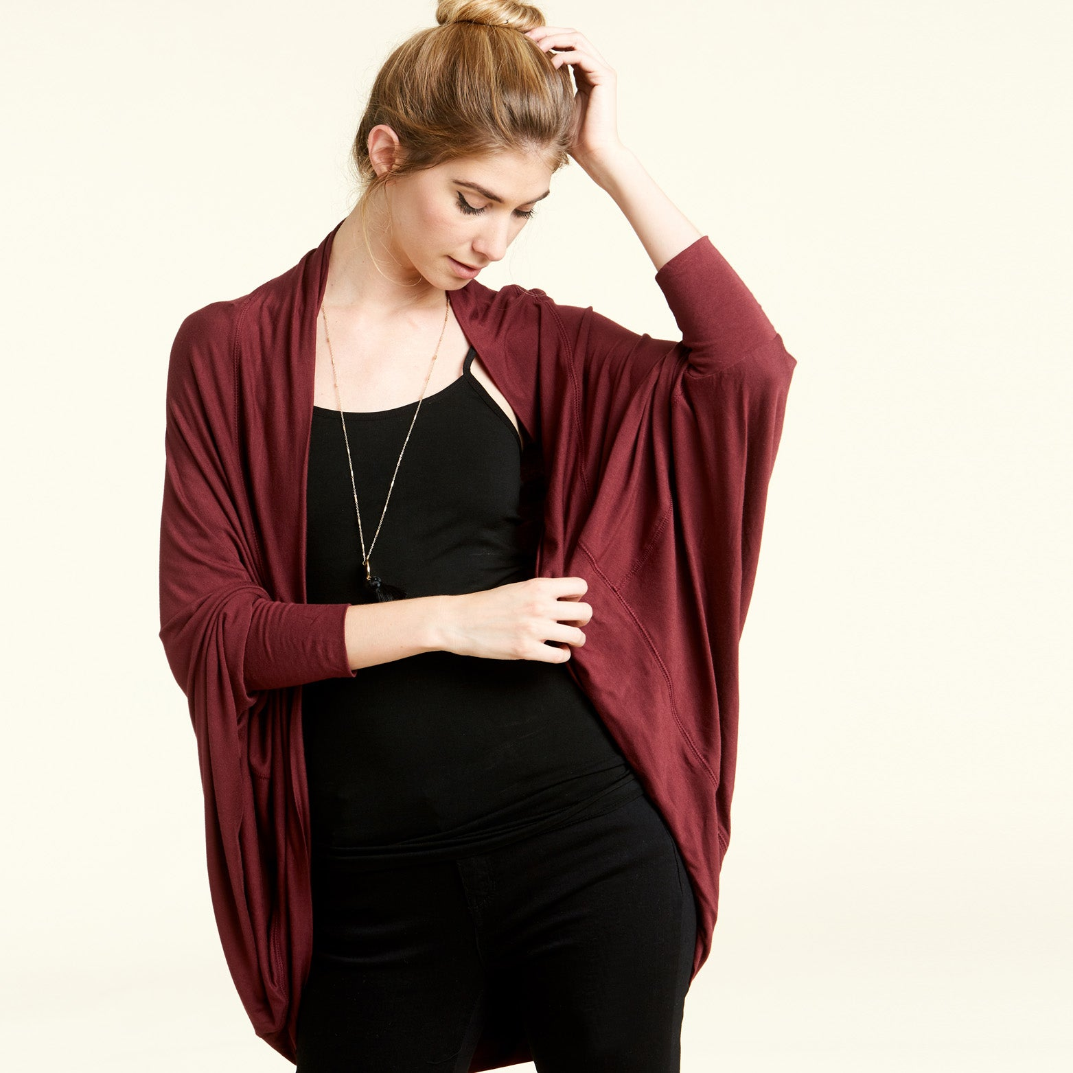 Dolman Sleeves Circle Cardigan - Love, Kuza