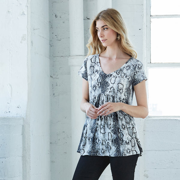 Serpentine Tunic Top
