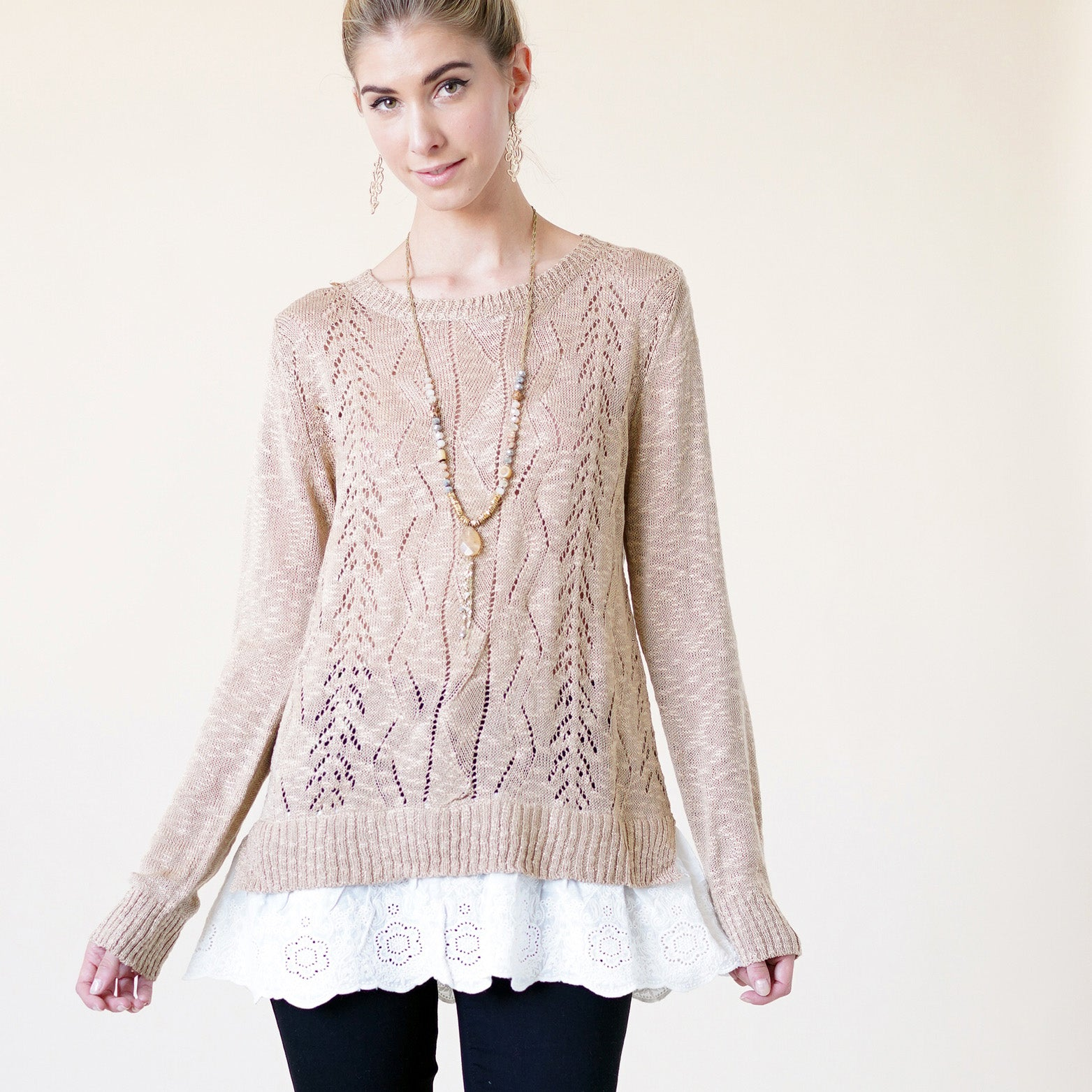 Spring Me On Eyelet Top - Love, Kuza
