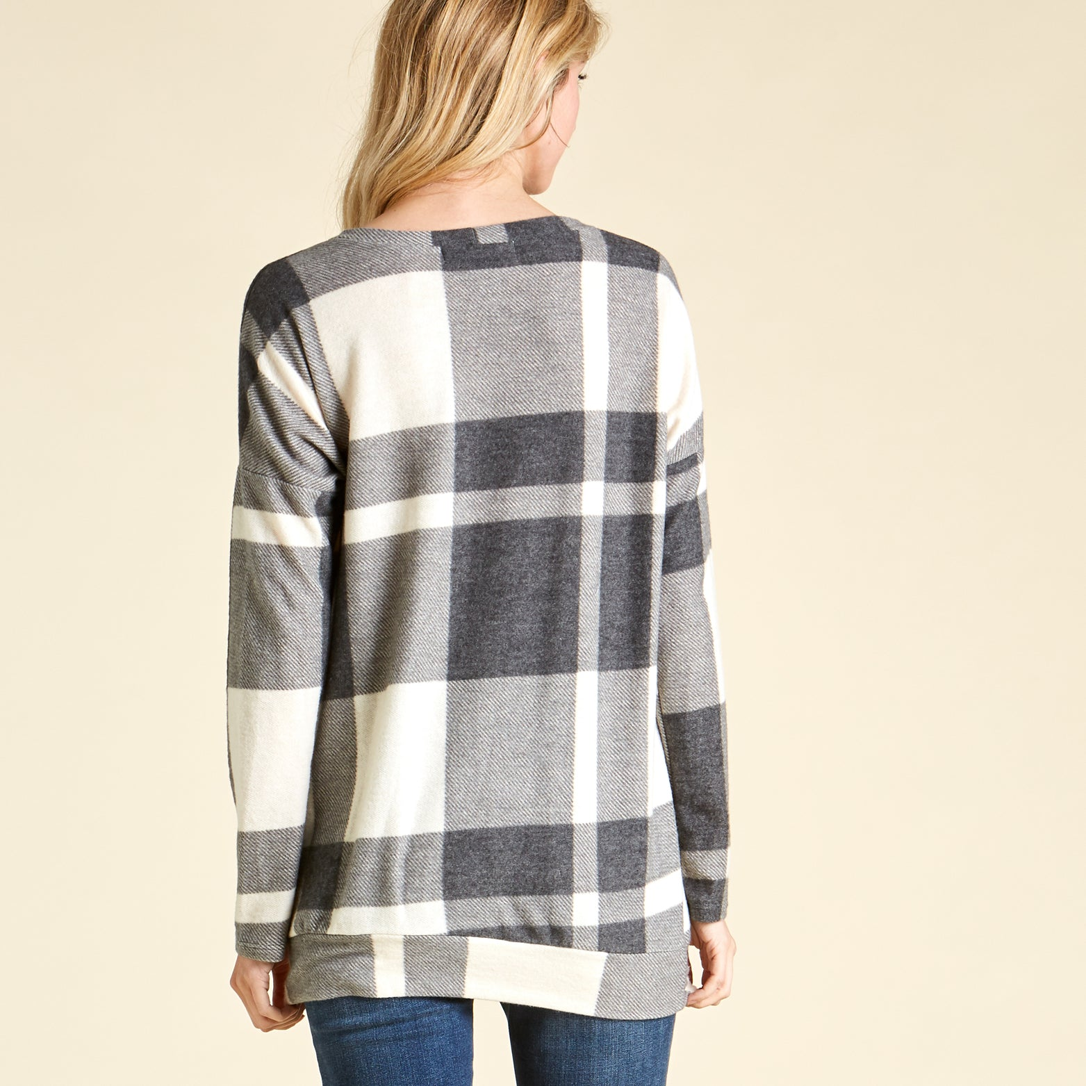 Soft Plaid Sweater