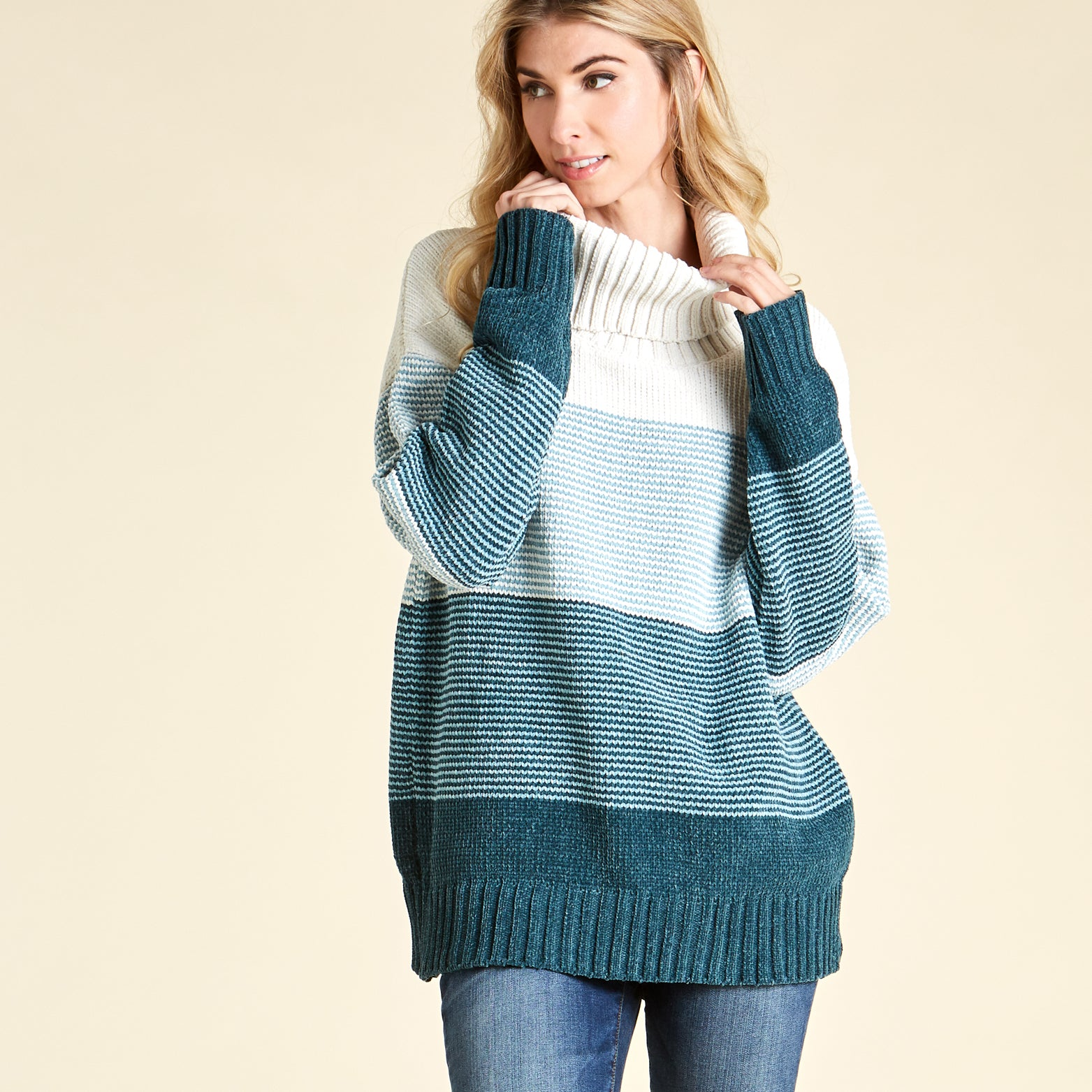 Gradient Skies Turtle Neck Sweater - Love, Kuza