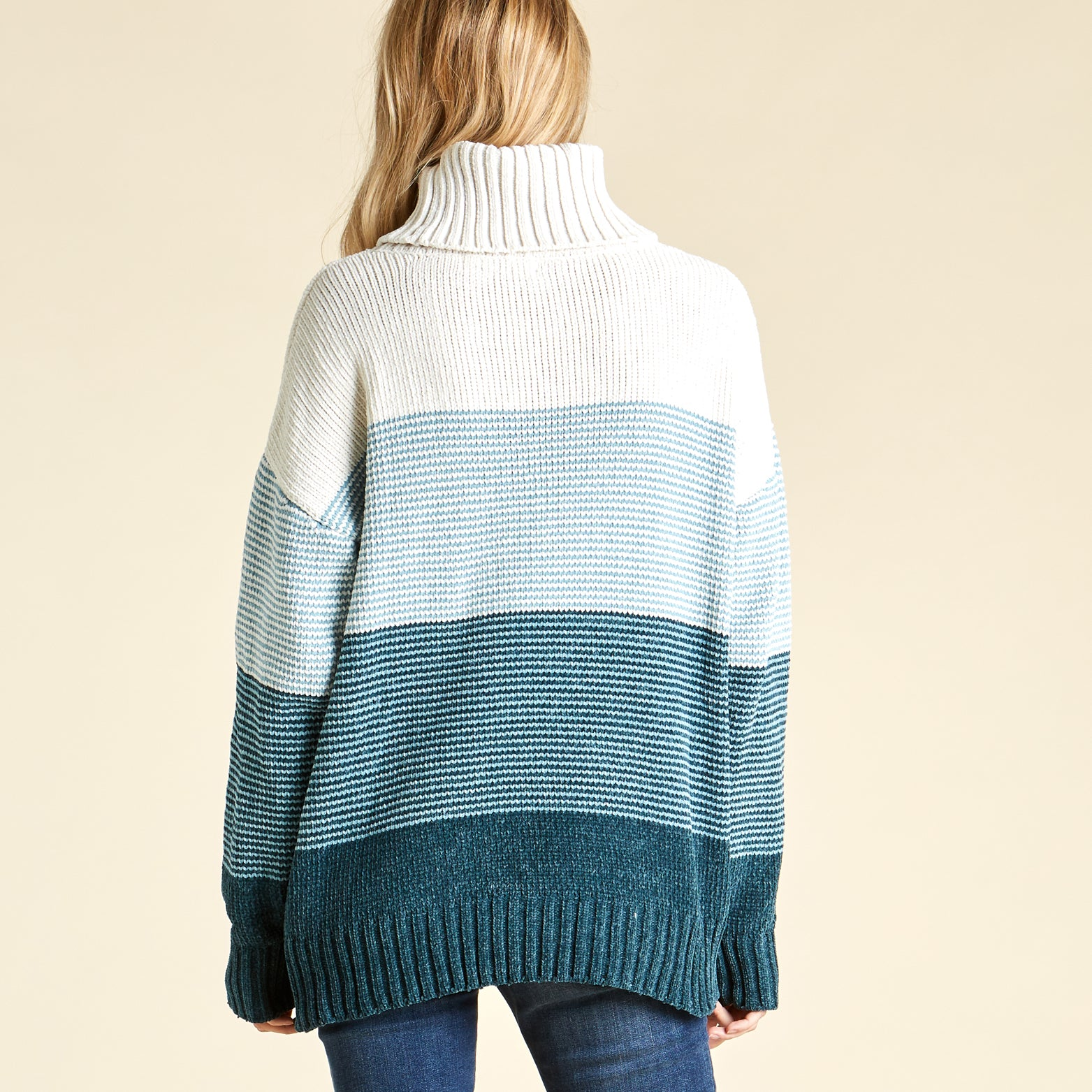 Gradient Skies Turtle Neck Sweater