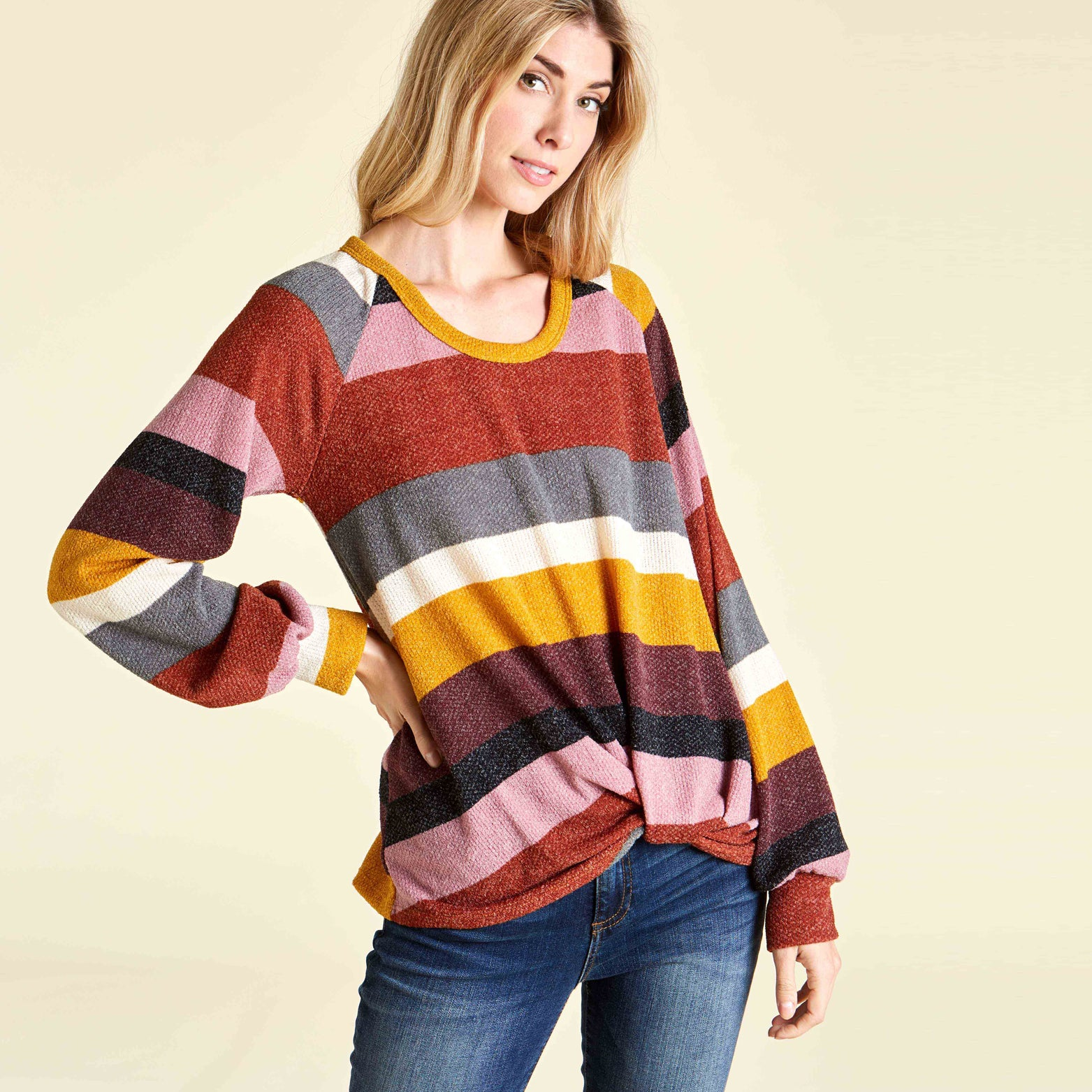 Retrobow Bishop Sleeve Sweater - Love, Kuza