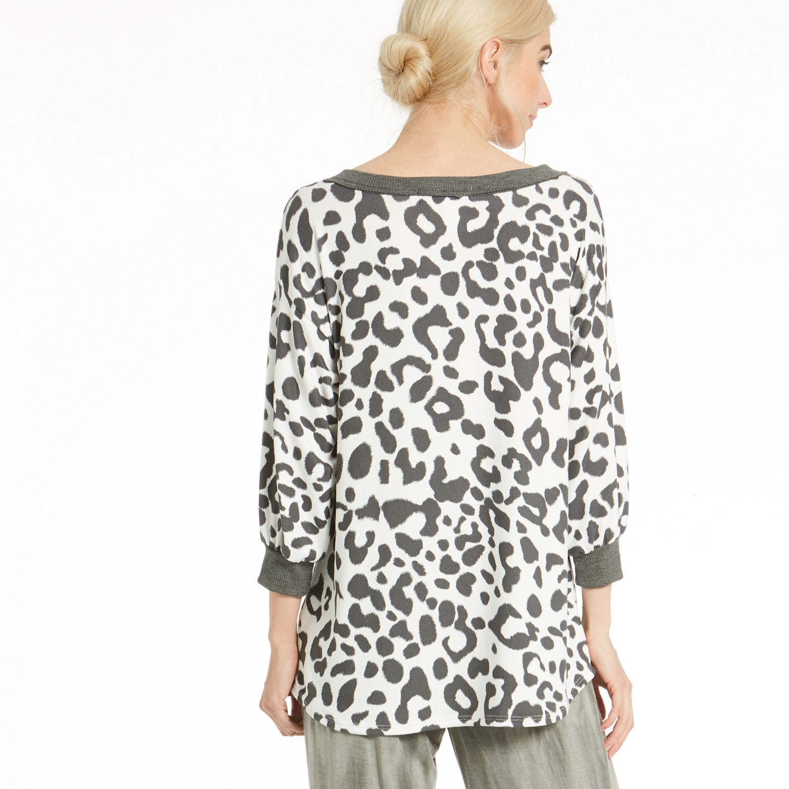 Comfy Animal Print Top - Love, Kuza