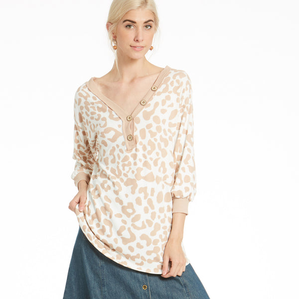 Comfy Animal Print Top