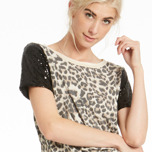 Glorious Sequin Animal Print Top