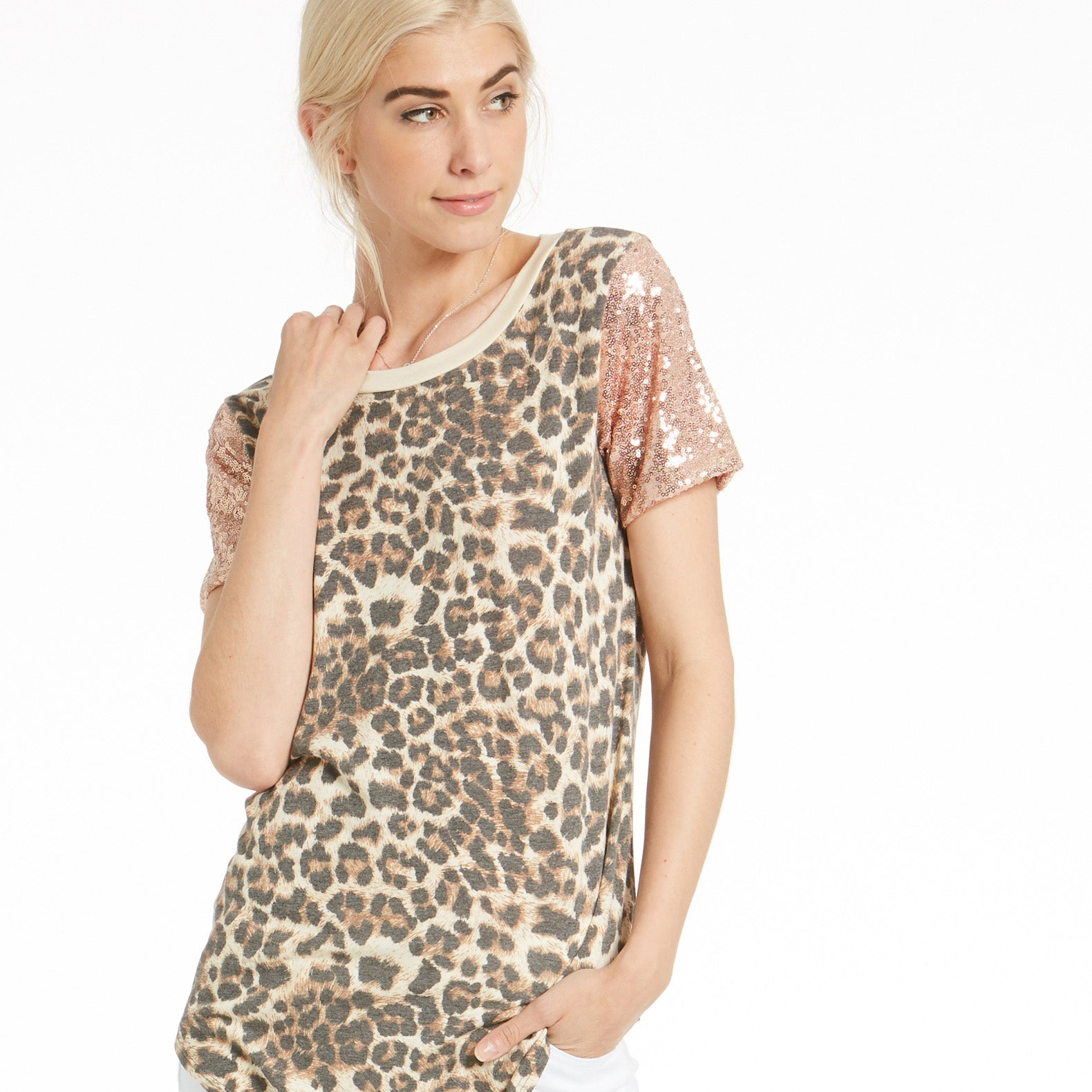 Glorious Sequin Animal Print Top - Love, Kuza