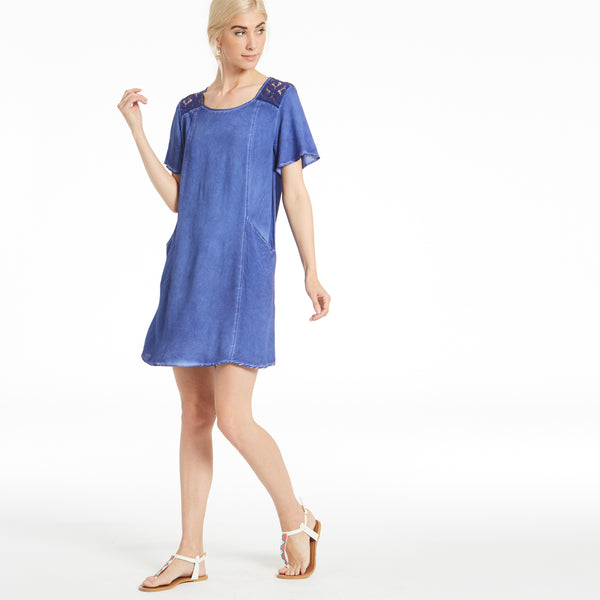 Denim Delight Shift Dress - Love, Kuza