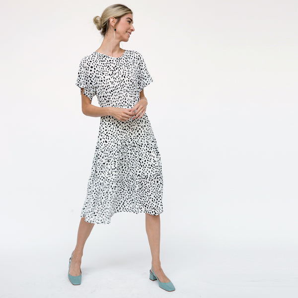 Abstract Dots Midi Dress
