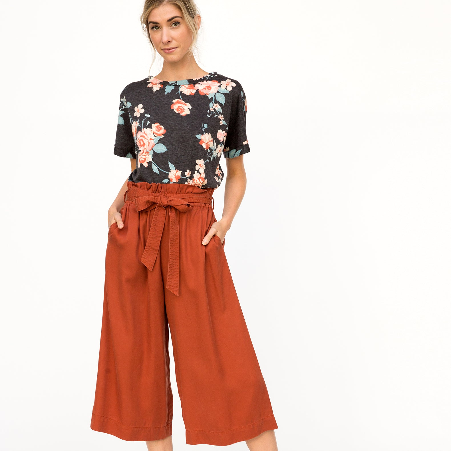 Tencel Culottes With Pockets