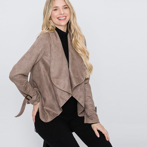 Cascading Suede Jacket