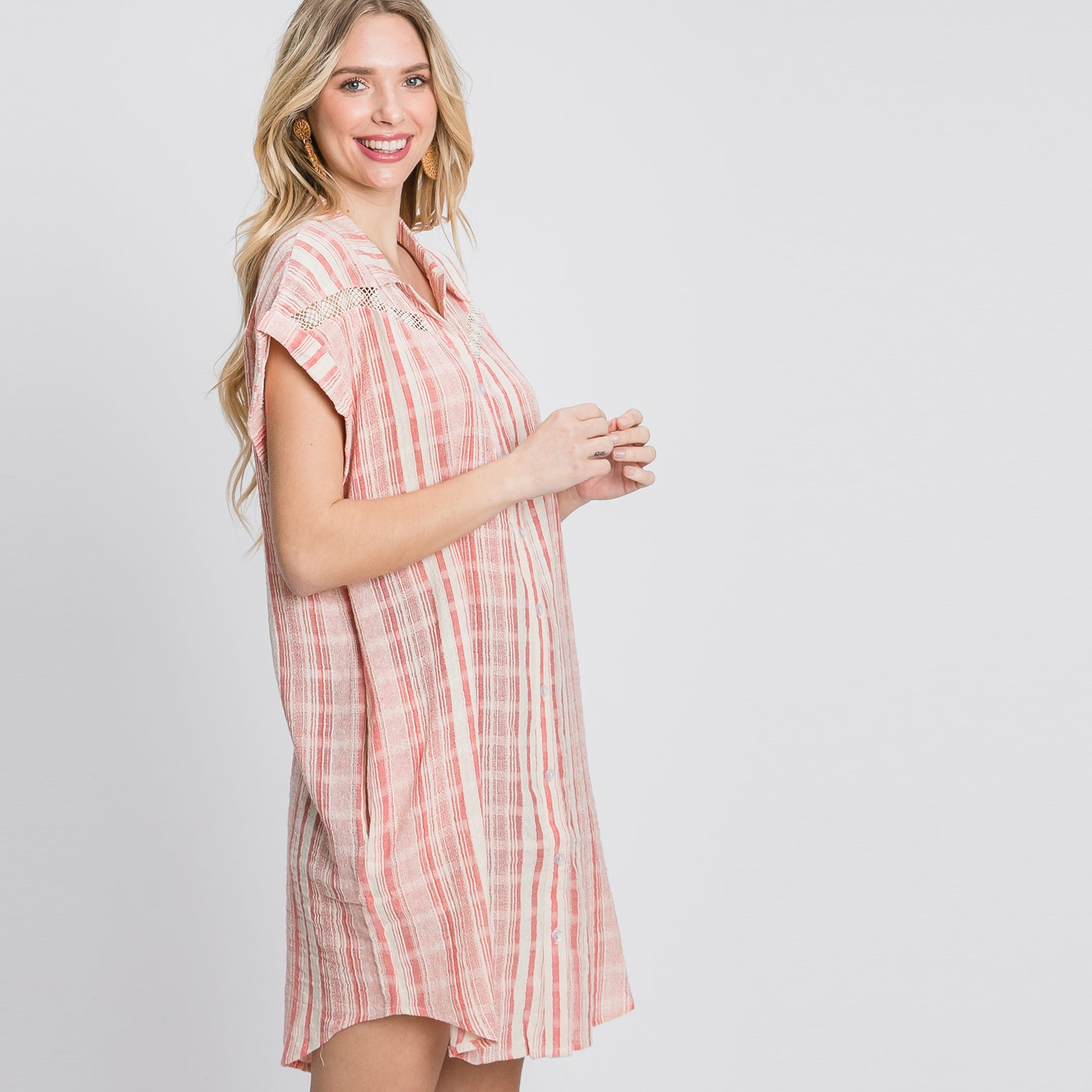 Fun Loving Shirt Dress
