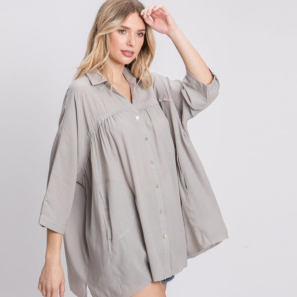 Baby Doll Oversize Shirt