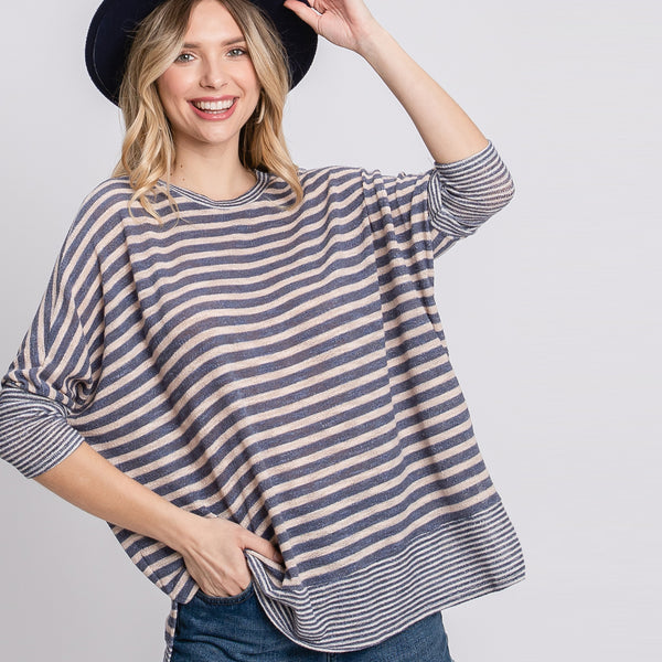 Stripes Are a Girls BF Top