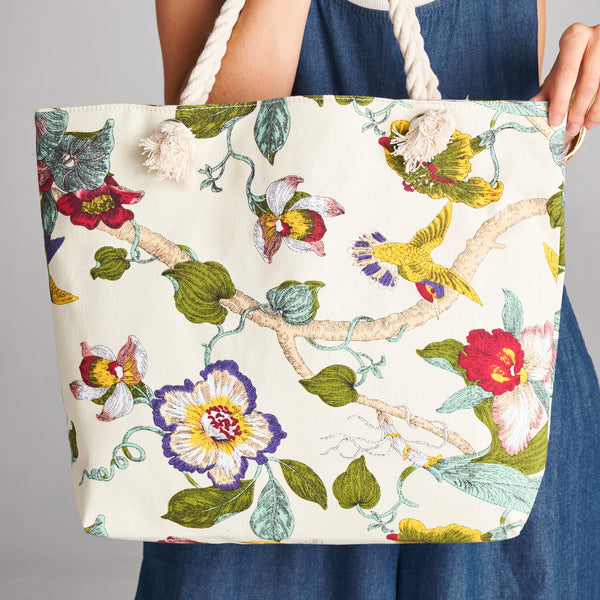 Orchid Radiance Canvas Tote