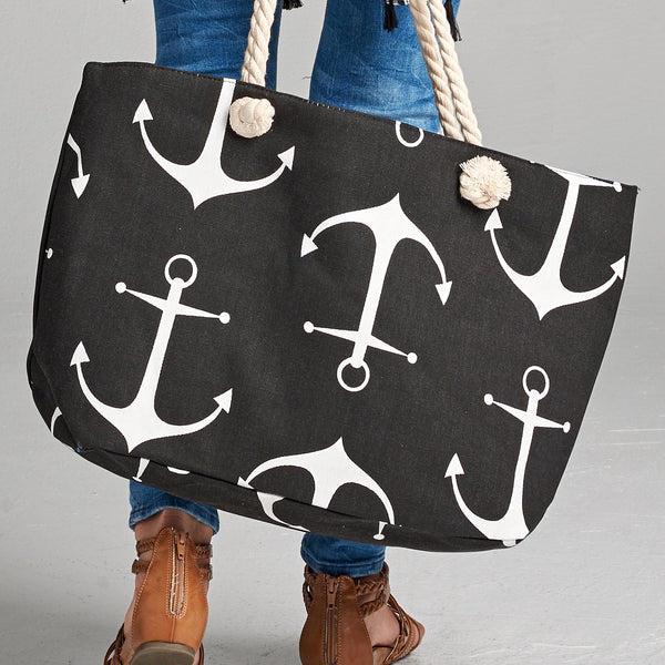 Anchor Canvas Tote Bag - Love, Kuza