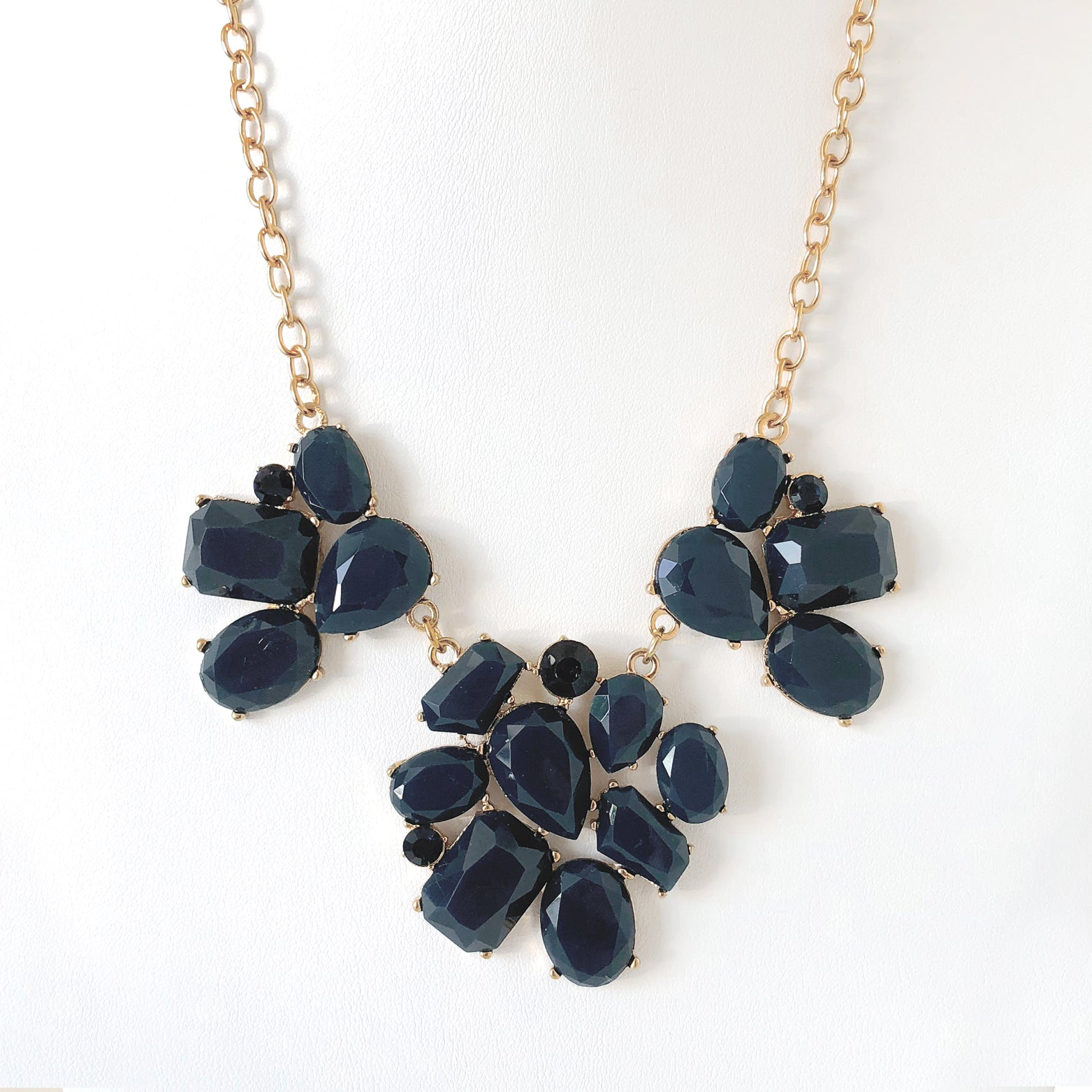 Floral Geo Statement Necklace