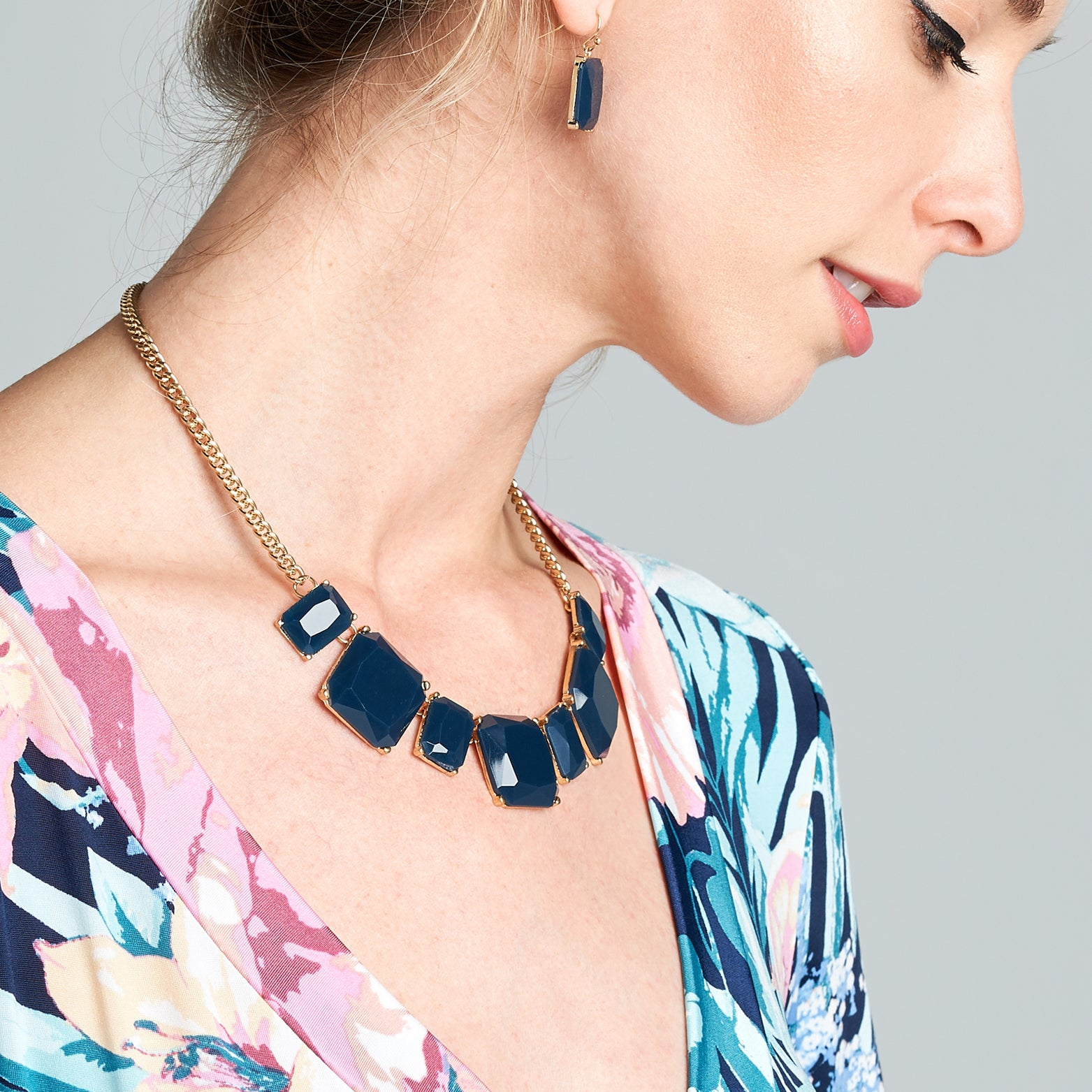 Geo Block Statement Necklace