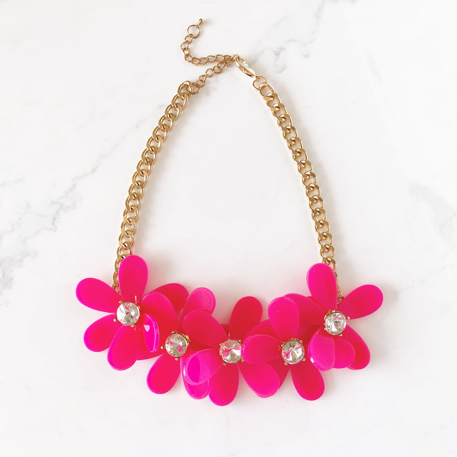 Floral Link Statement Necklace