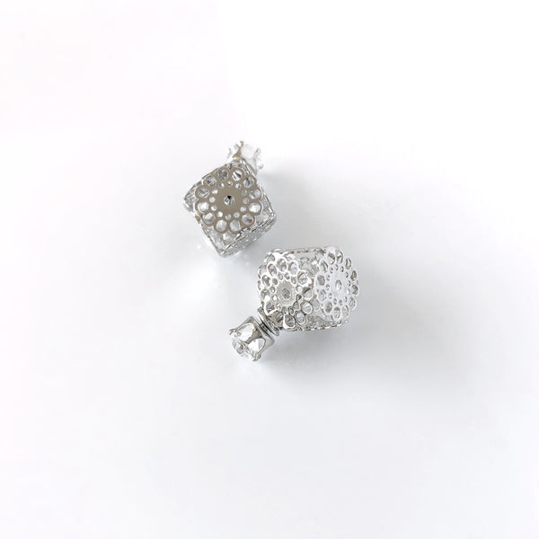 Filigree Cube Stud Earrings - Love, Kuza