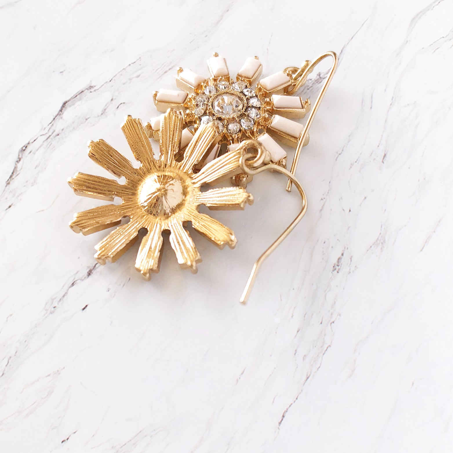 Daisy Geo Drop Earrings - Love, Kuza