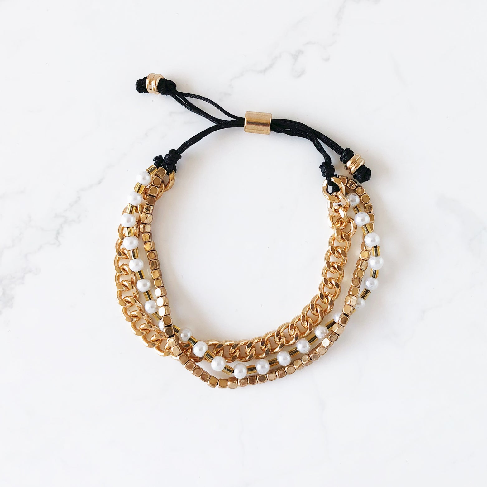 Multi Layered Pull Bracelet - Love, Kuza