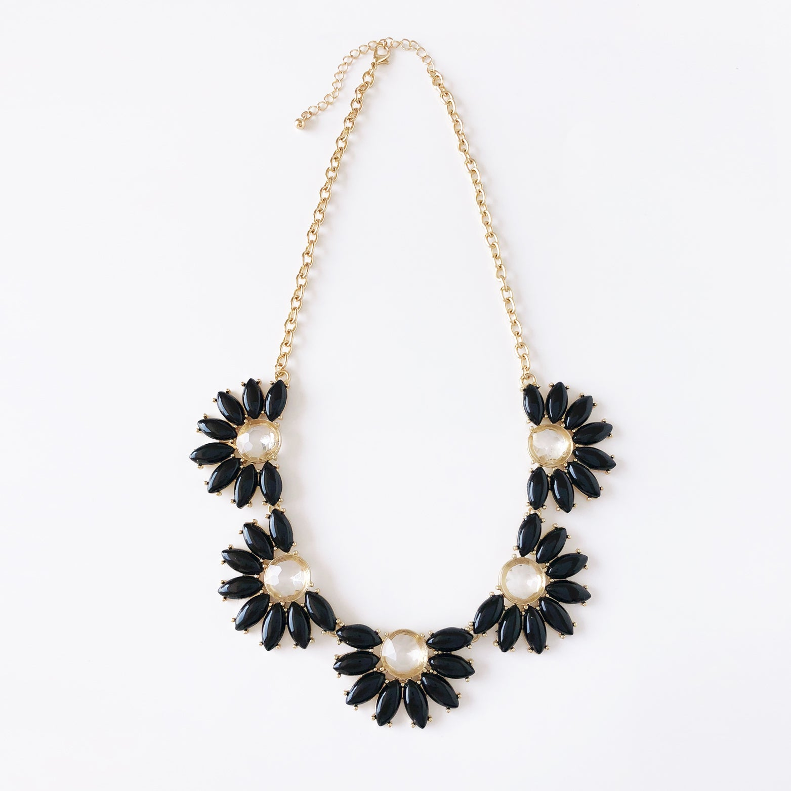 Daisy Jewel Link Necklace