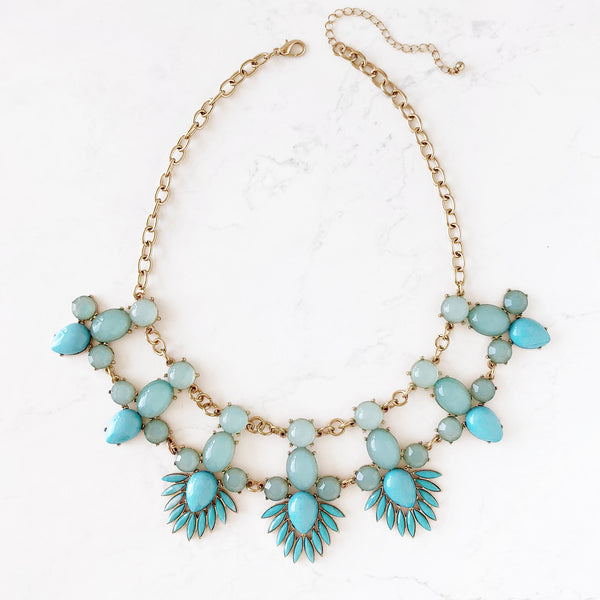 Vintage Tribal Statement Necklace - Love, Kuza